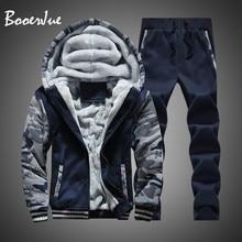 Tracksuit Men Hoodies Jacket Warm-Sweatshirts Moleton Fleece Masculino Winter Camouflage