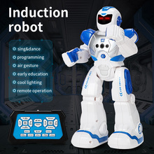 Mechanical Cops Early Education Intelligent Robot Electric Singing Infrared Sensing Remote Control Smart Robots Kids Toys Gift