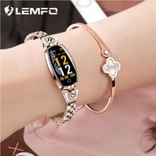 LEMFO Fitness Bracelet H8 Women Waterproof Blood Pressure Monitor Smartband Health Bracelet Fitness Tracker Smart Band Lady