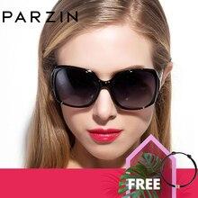 PARZIN gafas de sol polarizadas para mujer, anteojos de sol femeninos con marco grande, a la moda, Marco ovalado, de calidad Real