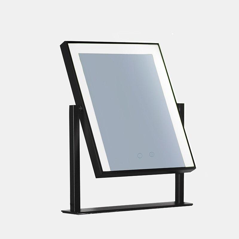 Голливуд Стиль освещенное зеркало для макияжа с регулируемой яркостью светодиодный лампы сенсорный Управление косметическое зеркало с по...