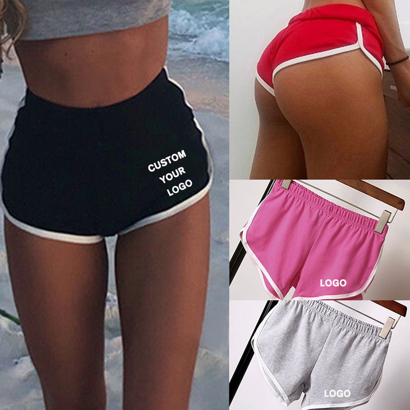 Sports Shorts Women Summer New Pink Black Grey Color Skinny Shorts Casual Lady Elastic Waist Casual Short Pants