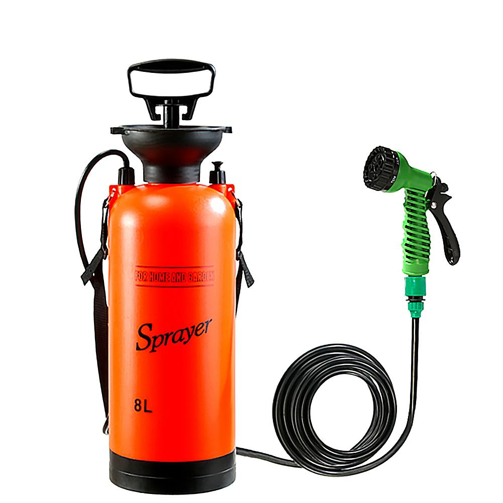 8L Car Washing Small Sprayer Portable Outdoor Camping Shower Multi-Function Bath Sprayer Watering Flowers For Travel