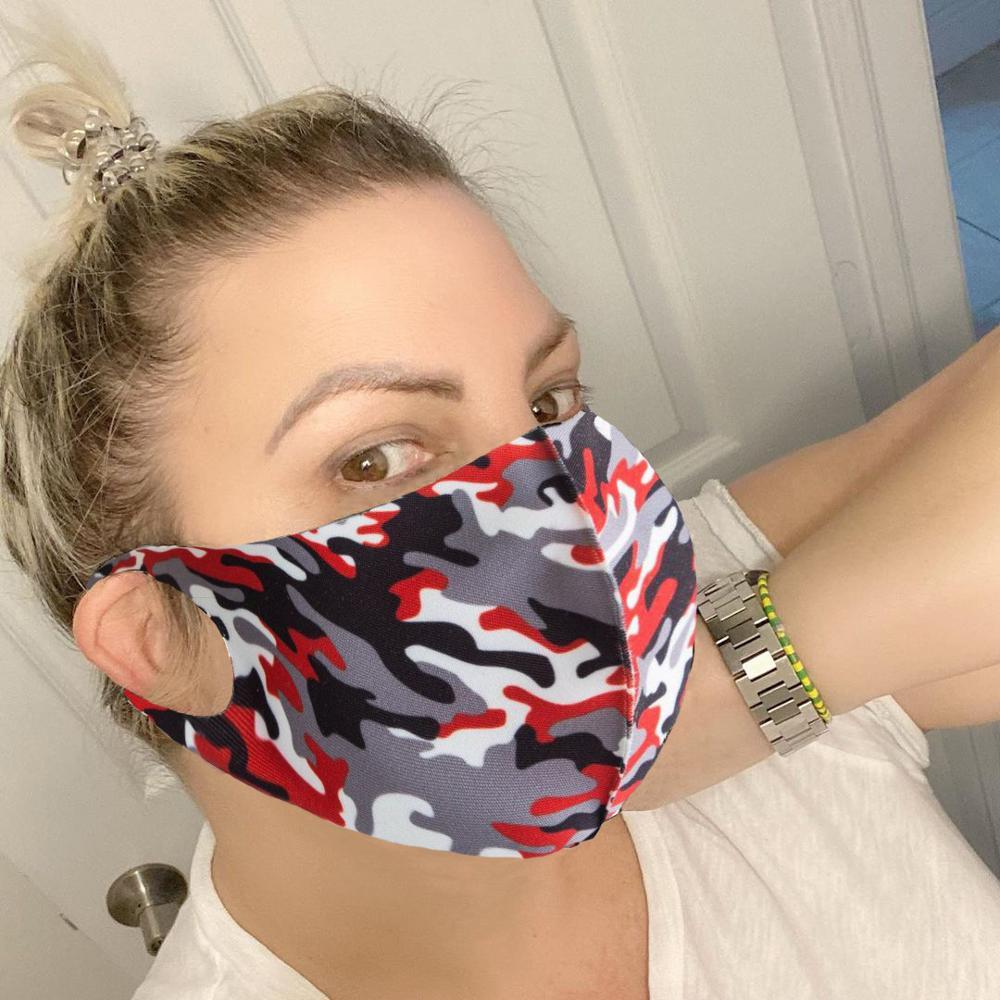 3pcs/lot Fashion Camo Print Men Women Mouth Face Mask Cover Windproof Dustproof Washable