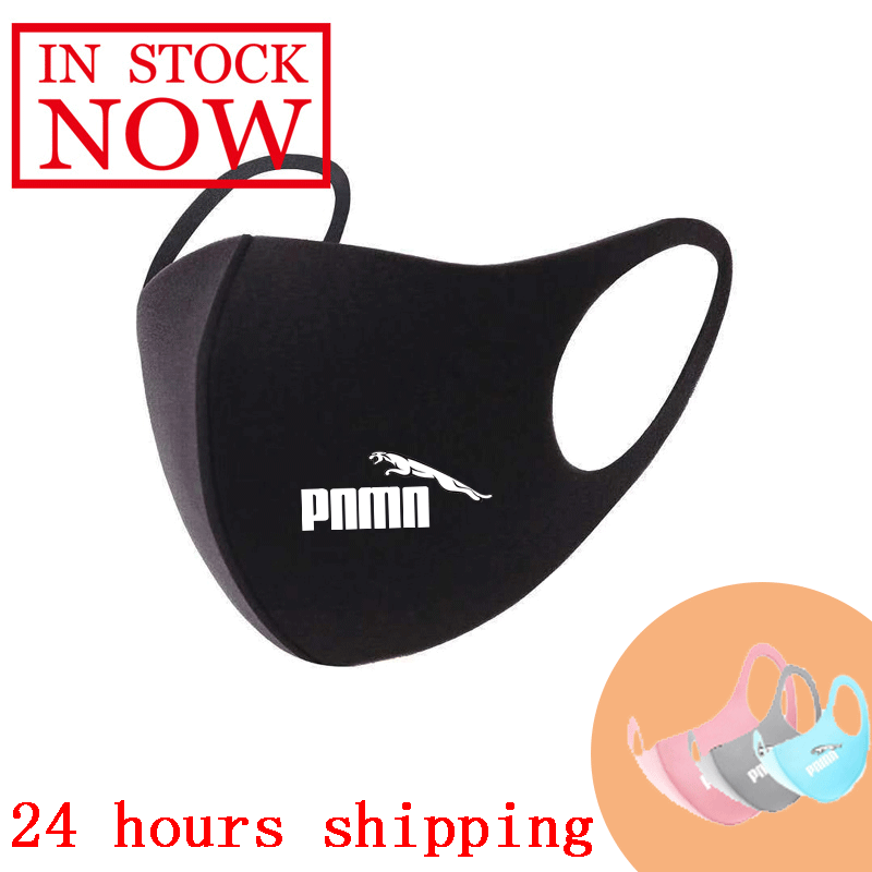 Print Washable Earloop Face Breathing Mask Unisex Cycling Anti Dust Environmental Mouth Mask Respirator Fashion Black Mask