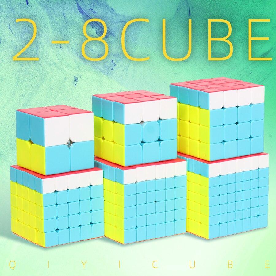 Qiyi Magic Cube Speed 3x3x3 2x2x2 4x4x4 5x5x5 6x6x6 7x7x7 Puzzle Cubo Magico 2x2 3x3 4x4 5x5 6x6 7x7 Toys For Children