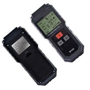 Image 4 - קרינה אלקטרומגנטית כף יד דיגיטלי מד מינון LCD מדידה גלאי מונה גייגר נעילת קול MT525 אור 9V EMF