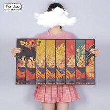 TIE LER Classic Cartoon Anime Poster Kraft Paper Cafe Bar Retro Poster Decorative Painting Art Wall Stickers Home Decor
