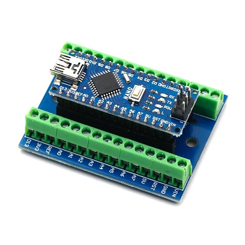 NANO V3.0 3.0 Controller Terminal Adapter Expansion Board NANO IO Shield Simple Extension Plate For Arduino AVR ATMEGA328P