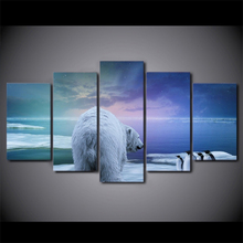 5 Planes Animal Room Decor Canvas Art Painting Picture Photo Living Office for Women and Men