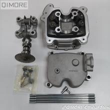 Kit de cabeça de cilindro para scooter, kit com 4 válvulas e 4 v para scooter 152qmi 1p52qmi 157qmj ltd gy6 125 gy6 150