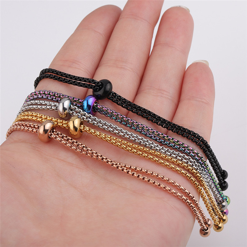 X ROYAL 3Pcs lot 1 8mm Width Popcorn Chains DIY Bracelets Anklets Bolo Box Chains Adjustable DIY Jewelry Findings Corn Chains in Jewelry Findings Components from Jewelry Accessories