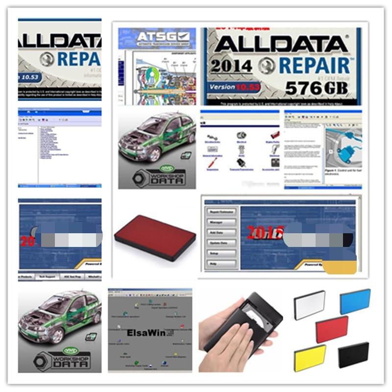 Alldata 2020 Hot sale 10 53v repair software mit  chell OD5 vivid workshop atsg ElsaWin 24 in 1tb hdd usb3 0 free shipping