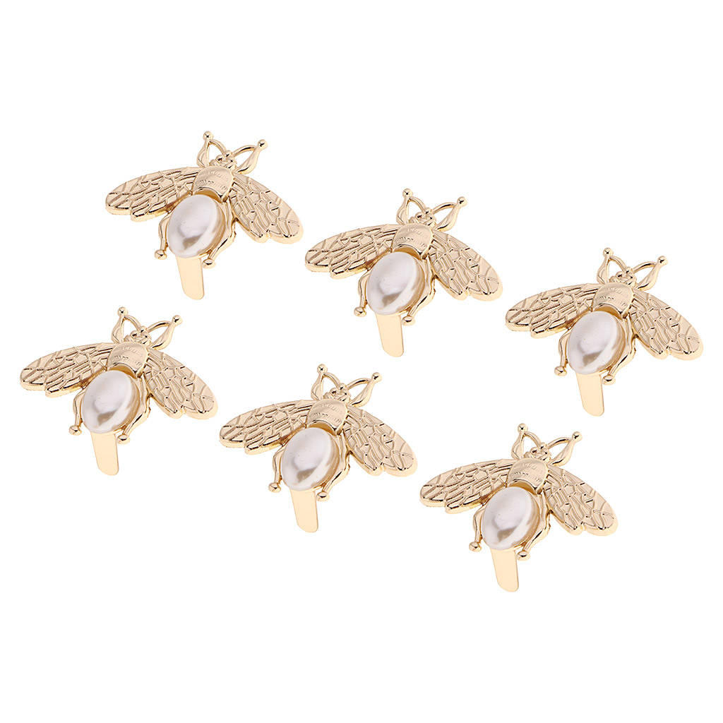 6X Metal Bee Shape Clasp Turn Lock Twist Lock For DIY Handbag Bag Purse Hardware Luggage Accessories, Gold Tone