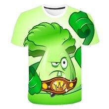 Girls Zombies Tops Game Boys Kids 4T-14T Vs Print Vegetables-Plants Wars