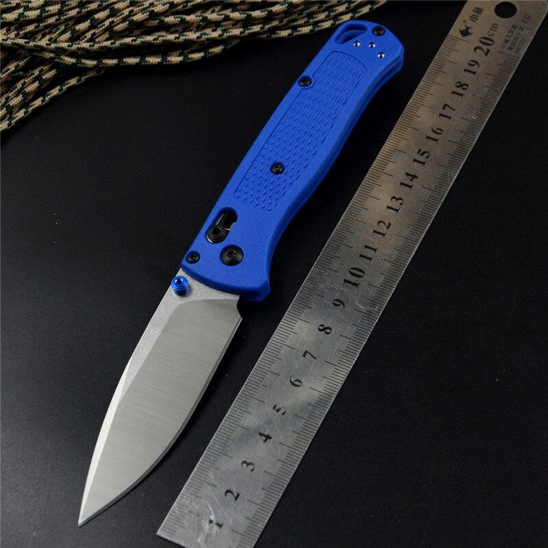 535 Pocket EDC Knife S30V Satin Blade Blue Zetel Handle For Camping Hunting Survival Outdoor Folding Knives