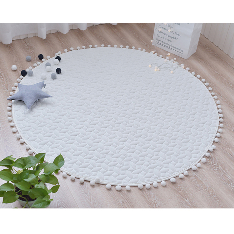Cotton Baby Playmat Baby Gym Mats Kids Games Rug Activity Crawling Children Tipi Tent House Base Accessories For Baby Room Decor