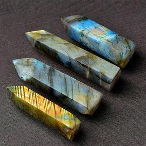1 шт. натуральный удлиненный лунный камень, Хрустальная колонна, шестигранный шероховатый камень, украшение, Хрустальный стержень, палочка, лечебный камень, подарок|Камни|   | АлиЭкспресс