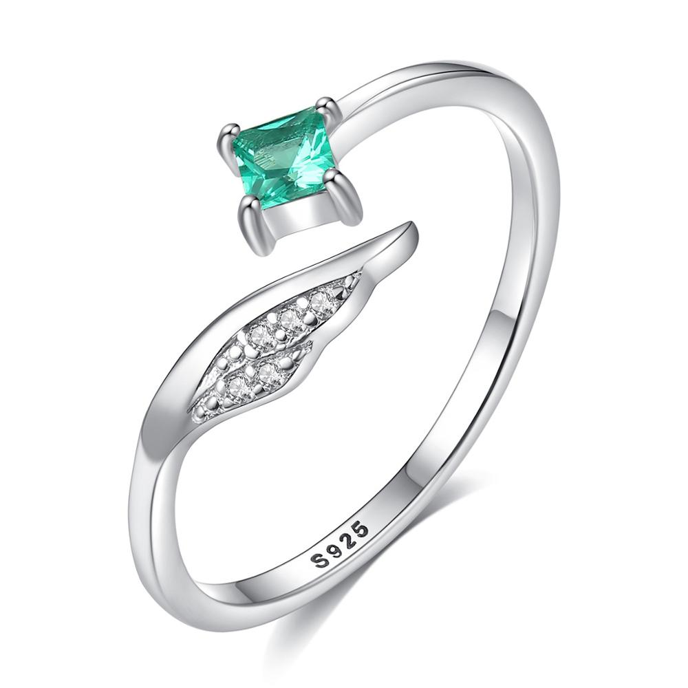 Allakalo Pure 925 Sterling Silver Square Emerald Gemstone Ring for Women Fine Jewelry Anniversary Gifts Silver Aneis Femme AR023
