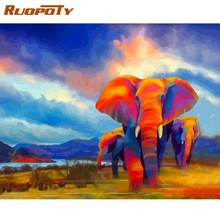 Набор для рисования по номерам на холсте Слоны 40 х50 см