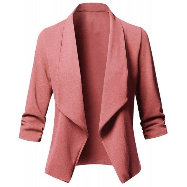 Black Chic Autumn Blazer Jacket Women Streetwear Office Lady Long Sleeves Blazer Coats Casual Blazer Feminino