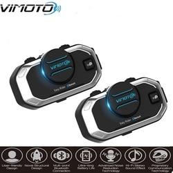 2pcs/lot Vimoto V8 Motorbike BT Interphone Motorcycle Bluetooth Helmet Intercom Stereo Headset for Cell Phone GPS 2 Way Radios