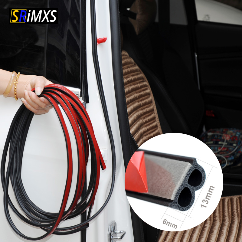 Auto Door Rubber Seal Strip B-type Universal Car Door Seal Sticker Sound Insulation B Shape Weatherstrip Car Trunk Seal Strips