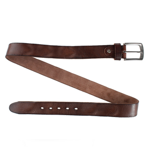 Image 3 - MEDYLA Brand Natural Leather Belt Men Retro Hard Metal Buckle Soft Italian Leather Mens Jeans Belt Mens Accessories Gift