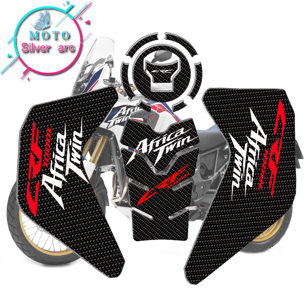 2 Stickers Gel 3D Guards Front Fender compatible with Honda Africa Twin