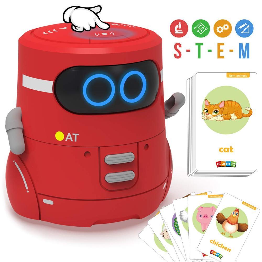 Télécommande rouge Robot jouet danse chanter carte jeu tactile détection enregistreur interactif enfants partenaire intelligent Robot cadeaux pour fille