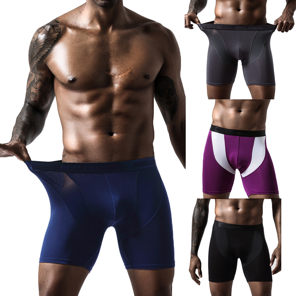Men Quick Dry Elastic Training Fitness Trunks Compression Exercise Sports Shorts 2