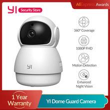 Yi dome guarda câmera 1080p wifi câmera ip em casa com funções de ia sistema de vigilância de segurança