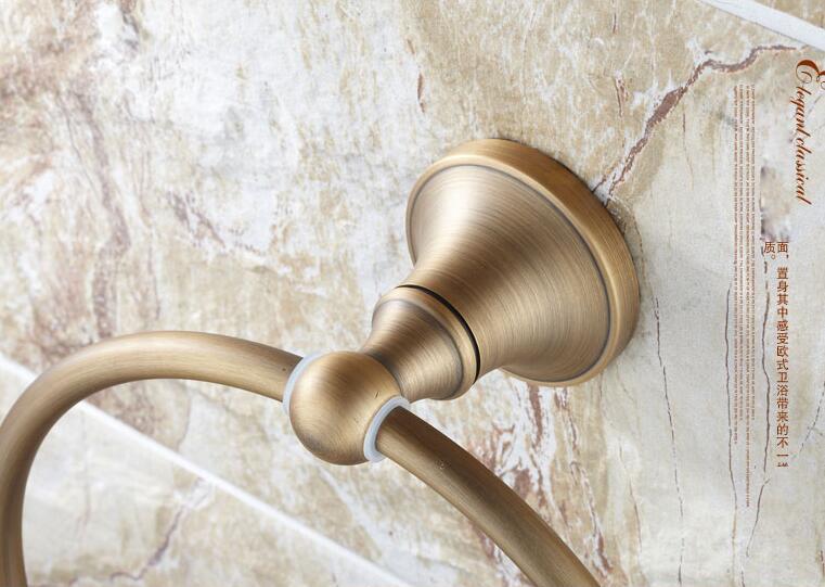 медь ванная полотенце держатель твердый латунь настенный круглый антик латунь полотенце кольцо полотенце вешалка европейский стиль