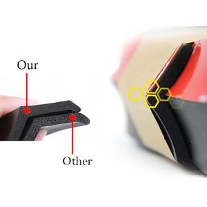 Image 4 - 2.5m zderzak samochodu Lip Strip Protectors Splitter Body zestawy Spoiler zderzaki drzwi samochodu zderzak z włókna węglowego gumowa warga 65mm szerokość taśmy