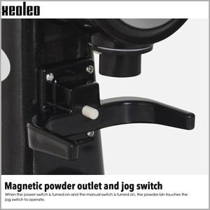 Image 5 - XEOLEO مطحنة بن كهربائية شبح الأسنان تصفية ماكينة القهوة لدغ طاحونة القهوة المنزلية ميلر 5 خطوات 150 واط أبيض/أسود