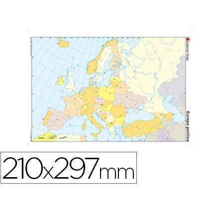 MAP MUTE COLOR DIN A4 EUROPE-POLITICO 100 Units