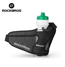 ROCKBROS Cycling Bike Bicycle Reflective Outdoor Water Bottle Belt Bag Softback Hiking Camping Running Waist