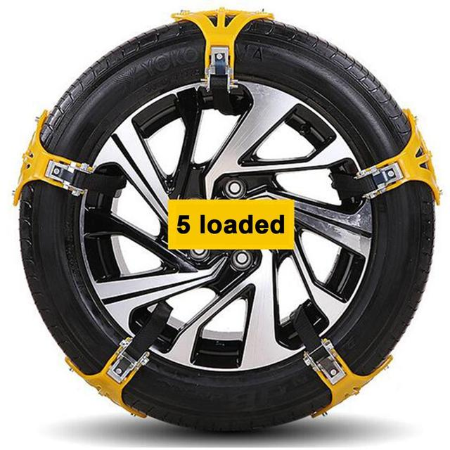 1-5pcs Car Tyre Winter Roadway Safety Snow Chain Wheel Car Tire Tendon Thickened wear-resistant Anti-skid Chain