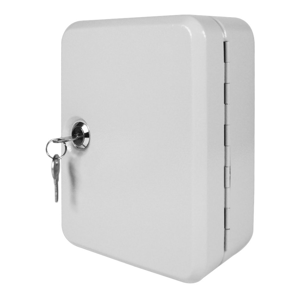 Key Safe Box 20 Tags Fobs Wall Mounted Lockable Key Cabinet Box Alloy Material Storage Box Security Organizer Boxes