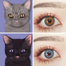2021 uyaai 2 шт опал seriers Цвет ed контактные линзы для глаз