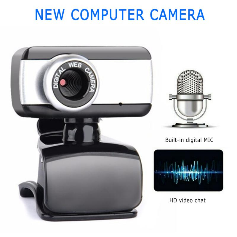 HD USB 2.0 Zoom Webcam With Microphone Web Camera Video Chat Web Camera For Desktop Computer Computer Peripherals Accessories