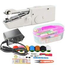 Портативные мини-ручные швейные машины для шитья, шитья, рукоделия, беспроводные ткани для одежды, электрическая швейная машина, набор стежков