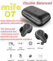 mifo O7 Double Balanced APTX Bluetooth 5.0 True Wireless Earphones Sport Waterproof Touch Tws Earbuds Noise Reduction Headset