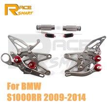 עבור BMW S1000RR 2009 2014 אופנוע CNC מתכוונן Rearset אחורי דום דומי יתדות S1000 RR S 1000RR 2010 2011 2012 2013
