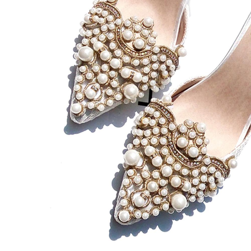 1 Pc Shoe Clip Wedding Shoes High Heel Women Bride Decoration Rhinestone Shiny Decorative Clips Charm Buckle For Shoes