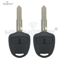 цена на Remtekey 2pcs Remote key 2 button MIT11R profile 434mhz ID46LCK for Mitsubishi  Shogun Pajero Lancer Outlander Colt Mirage key