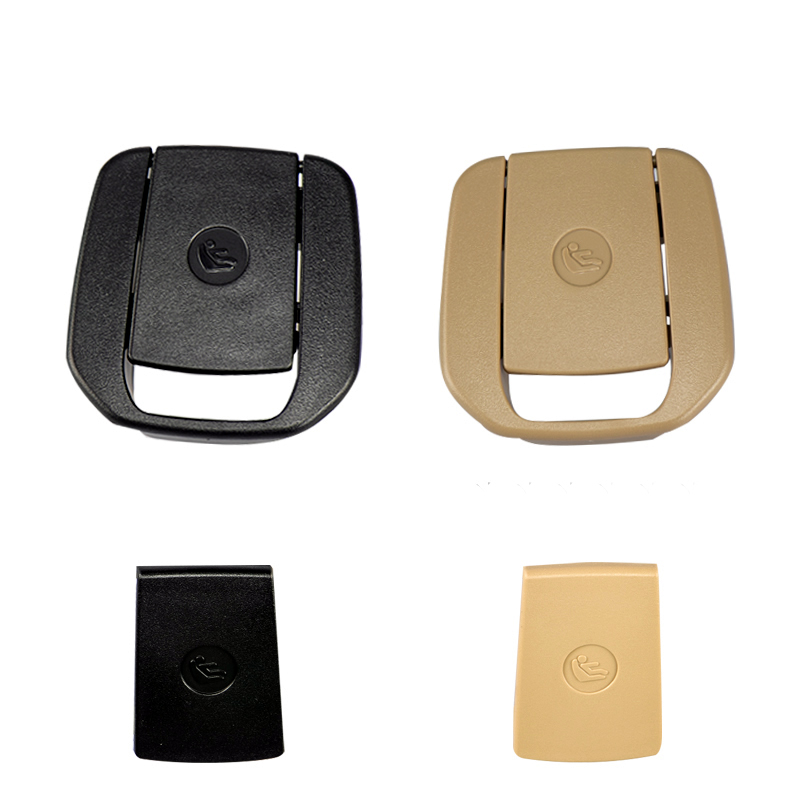 Car Rear Seat Hook ISOFIX Cover Child Restraint For BMW X1 E84 3 Series E90/F30 1 Series E87 Black / Beige