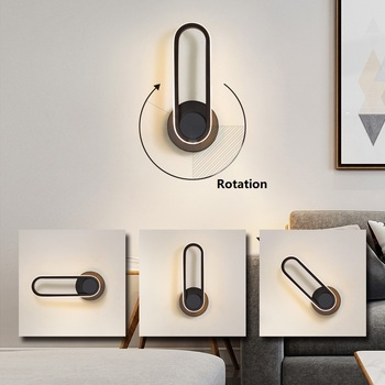 Modern Rotation Led Wall Lamp For Bedroom Living Room Study Room Adjustable Angle Aisle Balcony Wall Lights