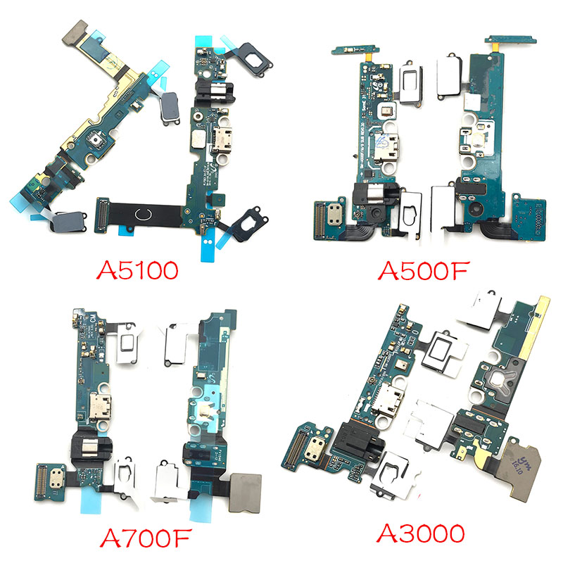 New USB Charging Port Flex Cable For Samsung A3 A5 A7 2015 2016 A300F A500F A700F A310F A510F A710F A Replacement Parts