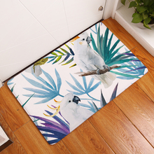 Tropical Style Mats Leaf Flower Print Doormat Absorbent Bathroom Kitchen Entrance Rugs Anti Slip Floor Carpet Home Decoration entrance decoration inflatable flower archway
